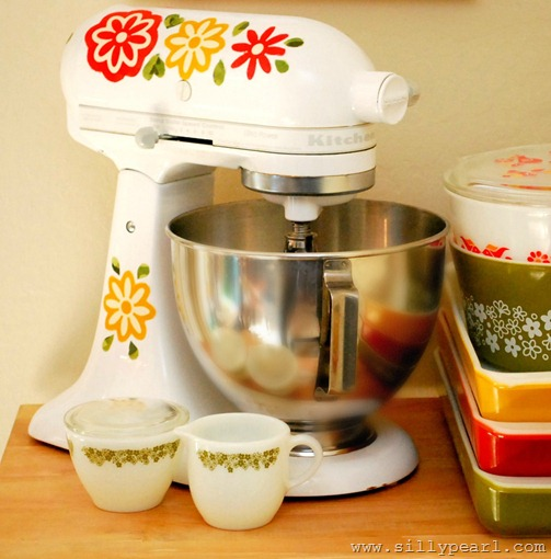 The Silly Pearl - KitchenAid Mixer Decals Inspired by Vintage Pyrex