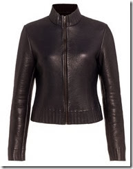 Jigsaw Bonded Knit and Leather Jacket