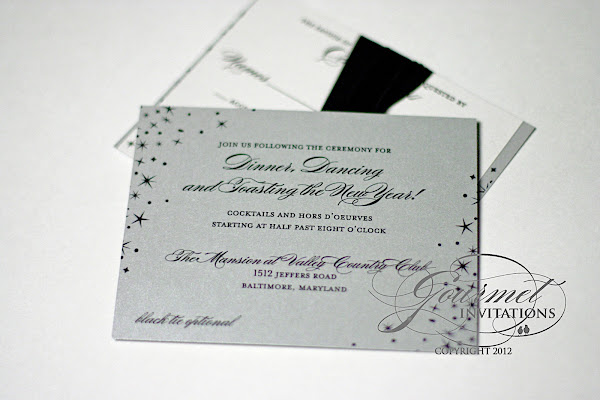 abbie david star new years eve wedding invitations