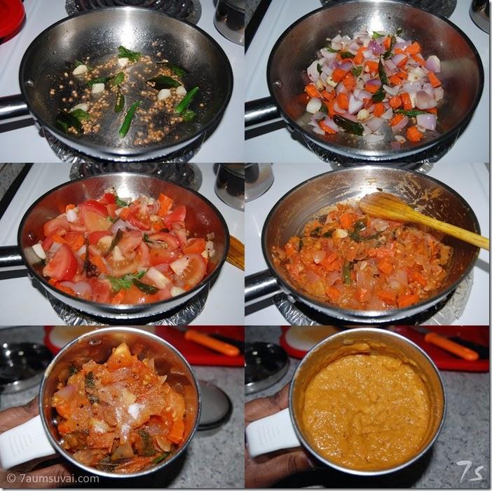 Tomato carrot chutney process