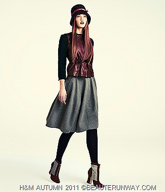 H&M Autumn 2011 Singapore Women Jacket Skirt Booties