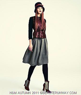 H&M Autumn 2011 Singapore Women Jacket Skirt Booties
