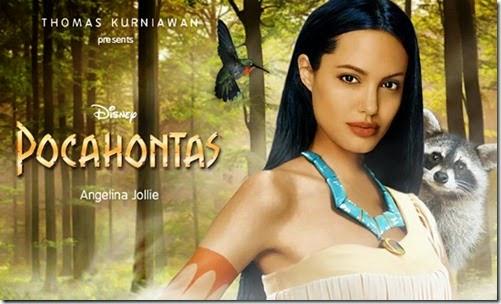 Angelina Jolie como Pocahontas