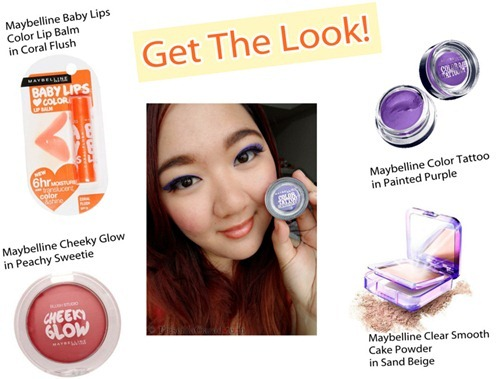 Priscilla Clara beauty blogger IBB MUC Maybelline Color Tattoo Painted Purple eye makeup FOTD get the look