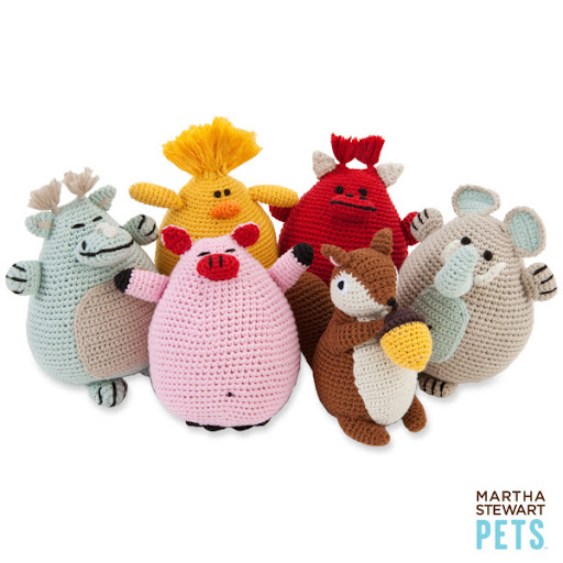 These Martha Stewart crochet toys are too cute. (petsmart.com)