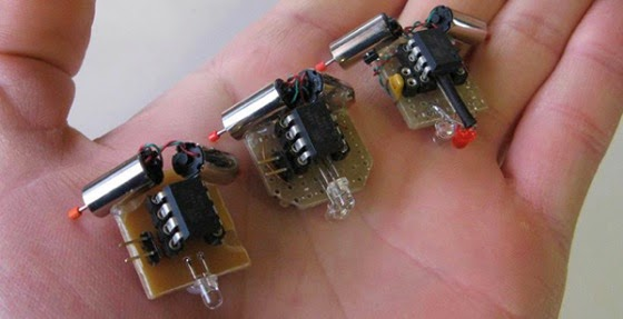 A Tiny Robot Family via Hack A Day