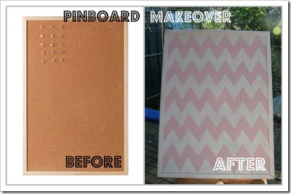 pinboard makeover