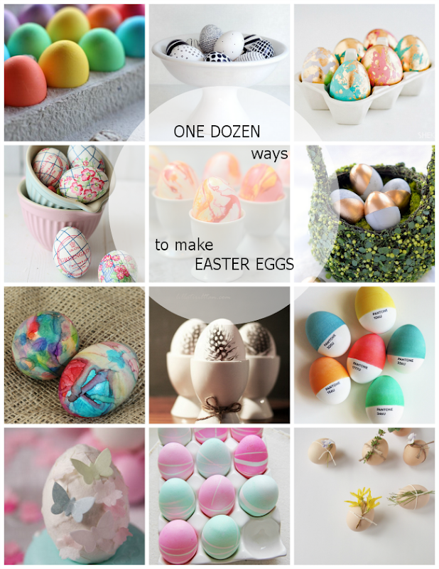 One Dozen Stunning Ways to make Easter Eggs via homework | carolynshomework.com