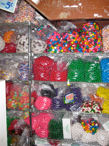 Lots of different types of gum balls.