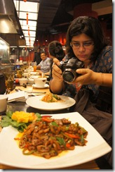 Rushina clicking away. 'deconstructing pork'