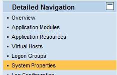 SAP NWA System Properties