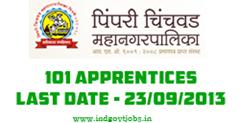 Pimpri Chinchwad Municipal Corporation Recruitment 2013
