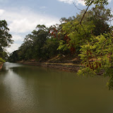 The outer moat around Sigiriya Rock