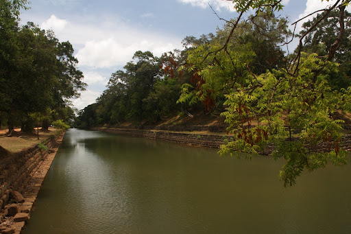 The outer moat around Sigiriya Rock