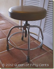 old lab stool