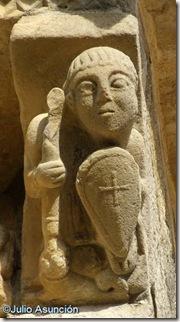 Caballero cristiano o San Jorge - San Martín de Artaíz - románico Navarra