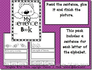 My Sentence Book activity pic