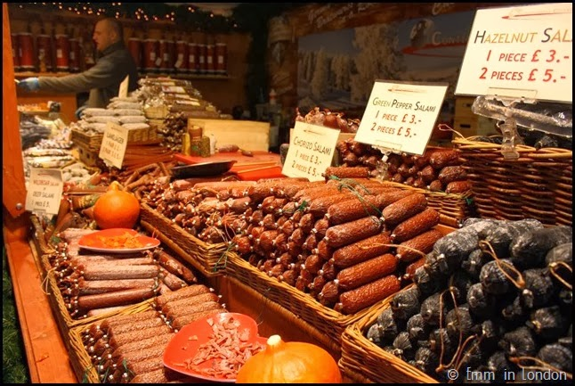 Sausages at Belfast Christmas Market
