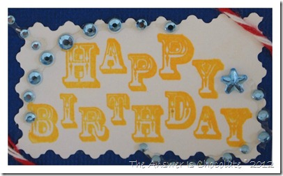 Stamped Happy Birthday