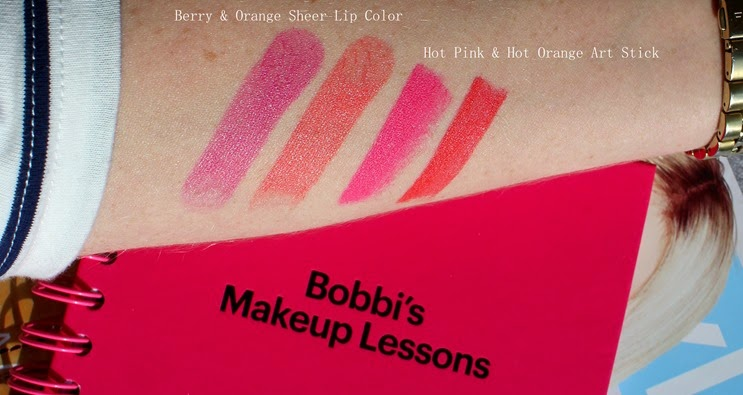 Bobbi-Brown-Hot-Collection-lip-swatches-Hot-Orange-Pink-Art-Stick