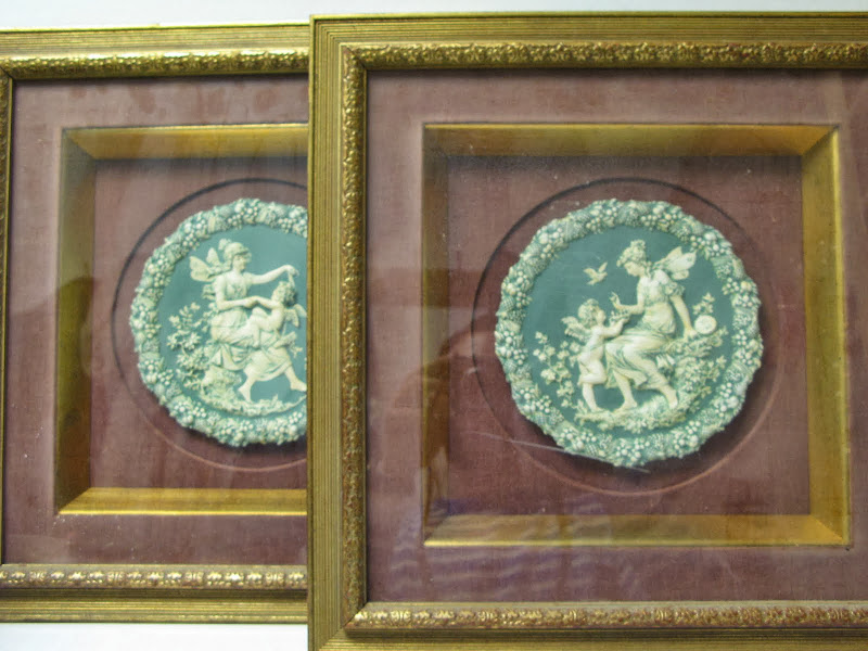 Framed Plaque Pair