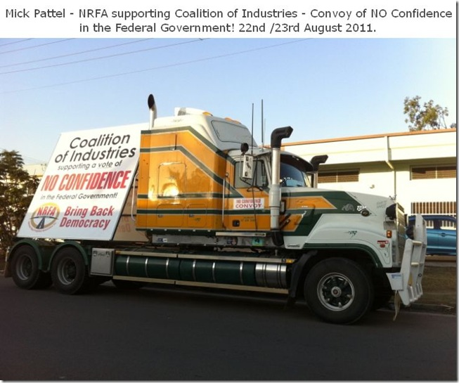 19 8 2011 Convoy of No confidence truck 2