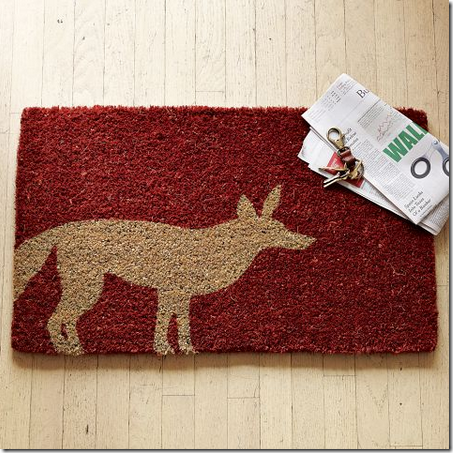 red fox doormat decor home