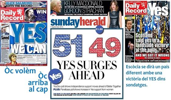Yes Escòcia Portadas escocesas