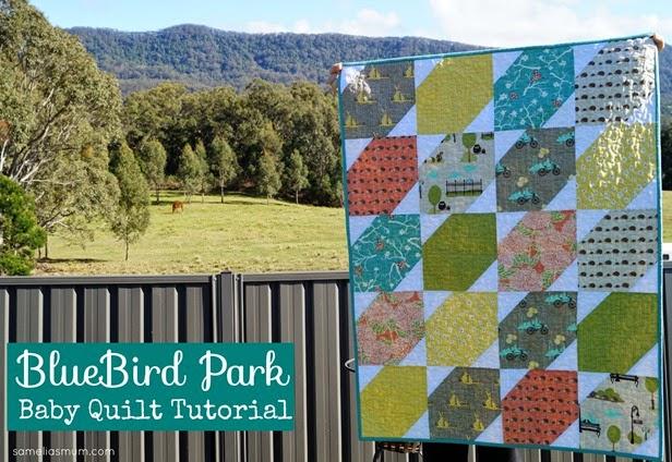 BlueBird Park Baby Quilt Tutorial