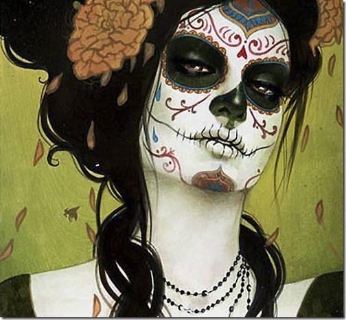 fotos de maquillaje para halloween de Calavera de azúcar mexicana