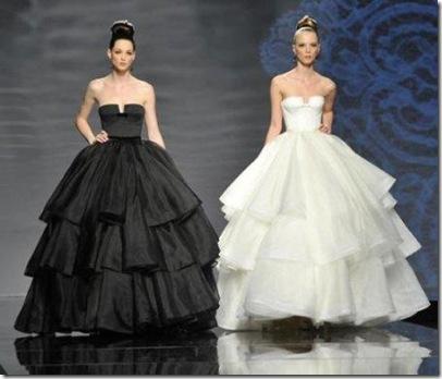 diseños de vestidos de novias rosa clara blanco y negro precios economicos
