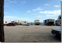 Our patio view at Ho-Hum RV Park