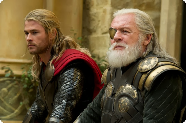 &quot;Marvel's Thor: The Dark World&quot;<br /><br />Thor (Chris Hemsworth) Odin (Sir Anthony Hopkins)<br /><br />Ph: Jay Maidment<br /><br />&copy; 2013 MVLFFLLC.  TM &amp; &copy; 2013 Marvel.  All Rights Reserved.