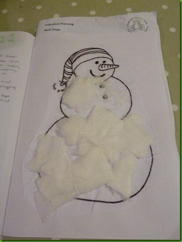 Fluffy snowman