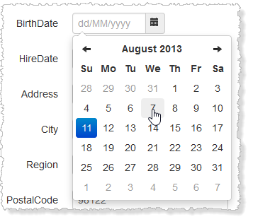 Bootstrap Date Picker in Action