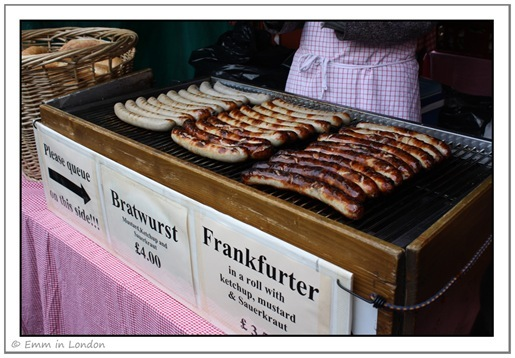 Borough Market - bratwurst and frankfurter