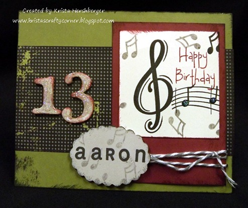 Aarons 13th bday card_music