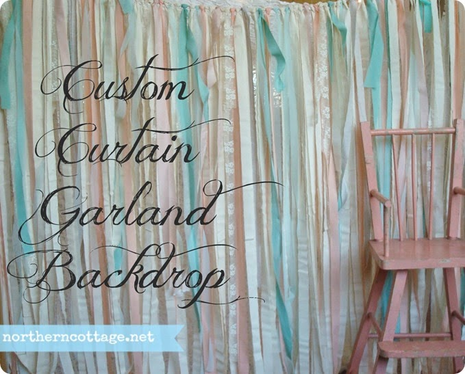 {Northern Cottage} custom Curtain Garland Backdrop