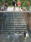 Here, the steps leading up to the High Line.