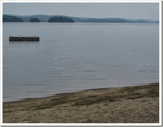Lac Taureau - canadaventure -vue de la plage