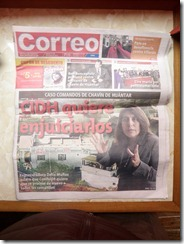 Correo Newspaper front