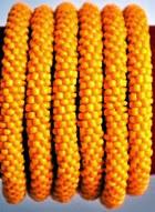 rollover bracelet orange