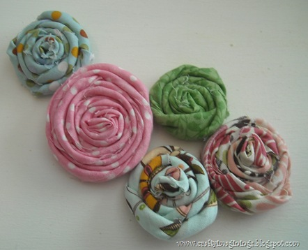 Fabric rosettes 1