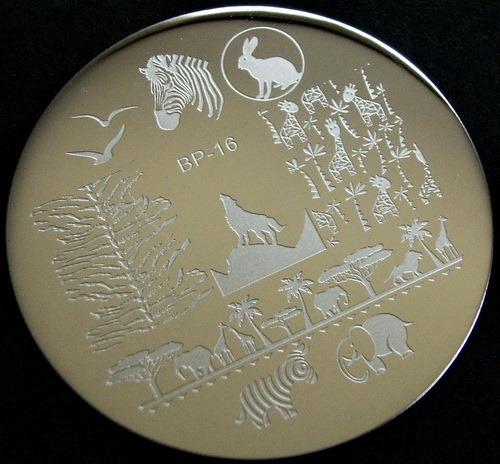 BornPrettyStore BP-16 nail stamping plate