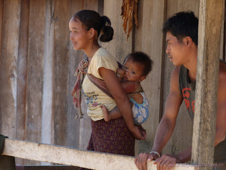 Hmong family in Laos