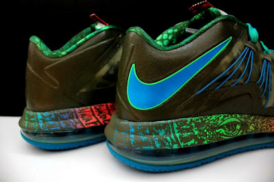 nike lebron 10 low gr black turquoise blue 2 09 Additional Look at Nike LeBron X Low Tarp Green