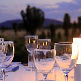 Uluru In The Distance At Sounds Of Silence Dinner - Yulara, Australia