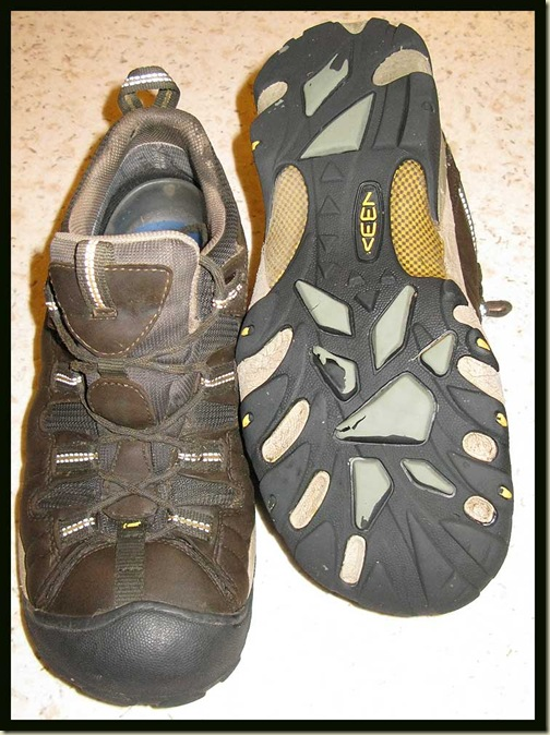 Keen Targhee 11 Walking Shoes after 650km