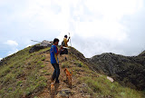 Goat hunters on Ili Boleng mountain (Tim Hannigan, April 2010)
