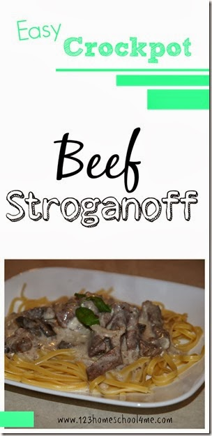 easy crockpot beef stroganoff recipe #recipes #crockpot